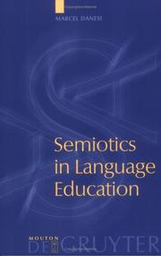 Cover of: Semiotics in language education | Marcel Danesi