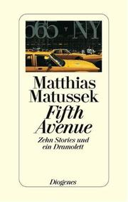 Cover of: Fifth Avenue | Matthias Matussek