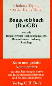 Cover of: Baugesetzbuch by Germany
