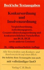 Cover of: Konkursordnung | Germany