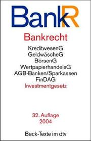 Cover of: Bankrecht | Germany