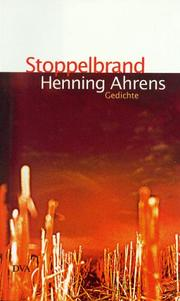 Cover of: Stoppelbrand by Henning Ahrens