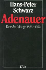 Cover of: Adenauer | Hans-Peter Schwarz