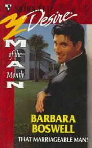 Cover of: That Marriageable Man! | Barbara Boswell
