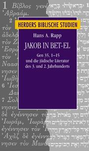 Cover of: Jakob in Bet-el by Hans A. Rapp