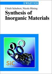 Cover of: Synthesis of inorganic materials | U. Schubert
