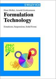 Cover of: Formulation technology | Hans Mollet