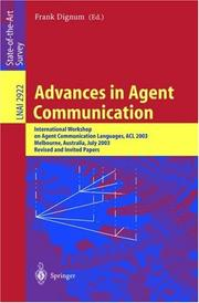 Cover of: Advances in Agent Communication by Frank Dignum
