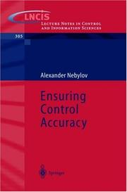 Cover of: Ensuring Control Accuracy | Alexander Nebylov