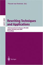 Cover of: Rewriting Techniques and Applications | Vincent van Oostrom