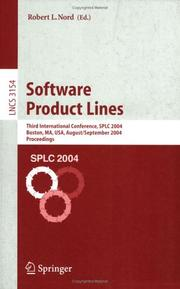 Cover of: Software Product Lines | Robert L. Nord
