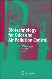 Cover of: Biotechnology for odor and air pollution control | Ajay Singh