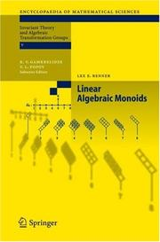 Cover of: Linear Algebraic Monoids (Encyclopaedia of Mathematical Sciences) | Lex E. Renner