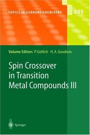 Cover of: Spin Crossover in Transition Metal Compounds III | Philipp Gntlich