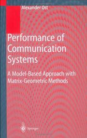 Cover of: Performance of communication systems | Alexander Ost