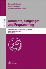 Cover of: Automata, Languages and Programming by P.G. Spirakis