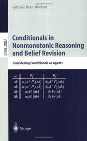 Cover of: Conditionals in Nonmonotonic Reasoning and Belief Revision | Gabriele Kern-Isberner