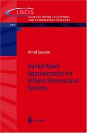 Cover of: Hankel Norm Approximation for Infinite-Dimensional Systems by A. Sasane