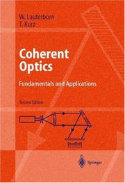 Cover of: Kohärente optik | W. Lauterborn