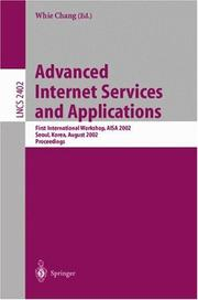Cover of: Advanced Internet Services and Applications | Whie Chang