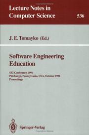 Cover of: Software Engineering Education | James E. Tomayko