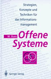 Cover of: Offene Systeme by Manfred Bues