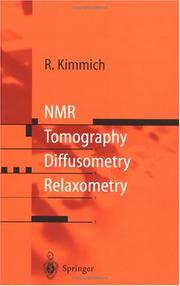 Cover of: NMR by R. Kimmich