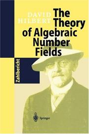 Cover of: The theory of algebraic number fields | David Hilbert