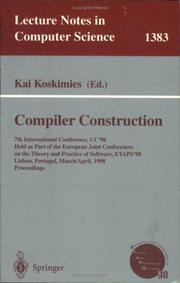 Cover of: Compiler Construction by Kai Koskimies