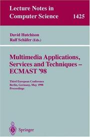 Cover of: Multimedia applications, services, and techniques by ECMAST '98 (1998 Berlin, Germany)