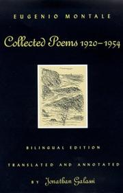 Cover of: Collected poems, 1920-1954 by Eugenio Montale