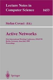 Cover of: Active Networks | Stefan Covaci