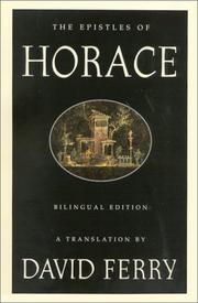 Cover of: Epistles | Horace