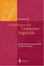 Cover of: Grundlagen der Computerlinguistik | Roland Hausser