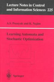 Cover of: Learning automata and stochastic optimization | Alexander S. Poznyak