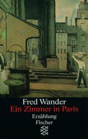 Cover of: Ein Zimmer in Paris by F Wander