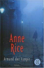 Cover of: Armand der Vampir by Anne Rice