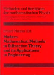Cover of: Modern Mathematical Methods in Diffraction Theory and Its Applications in Engineering | Erhard Meister