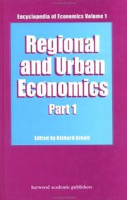 Cover of: Regional and Urban Economics (Encyclopedia of Economics, Vol 1) | ARNOTT