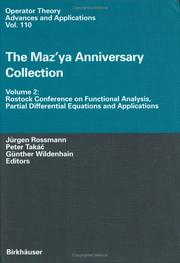 Cover of: Rostock Conference on Functional Analysis, Partial Differential Equations, and Applications by Rostock Conference on Functional Analysis, Partial Differential Equations, and Applications (1998)