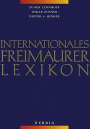 Cover of: Internationales Freimaurerlexikon | Eugen Lennhoff