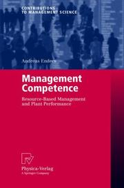 Cover of: Management Competence | Andreas Enders