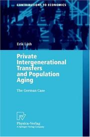 Cover of: Private Intergenerational Transfers and Population Aging | Erik Lüth