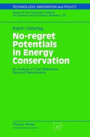 Cover of: No-regret Potentials in Energy Conservation | Katrin Ostertag