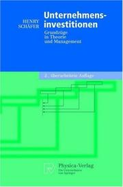 Cover of: Unternehmensinvestitionen by Henry Schäfer