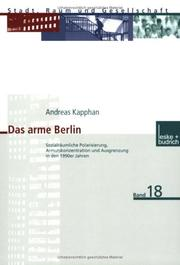 Cover of: Das arme Berlin | Andreas Kapphan