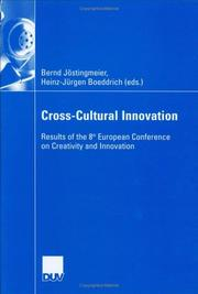 Cover of: Cross-Cultural Innovation | Bernd Jostingmeier; Heinz-Jurgen Boeddrich