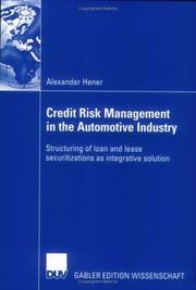 Cover of: Credit Risk Management in the Automotive Industry by Alexander Hener