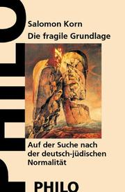 Cover of: Die fragile Grundlage by Salomon Korn