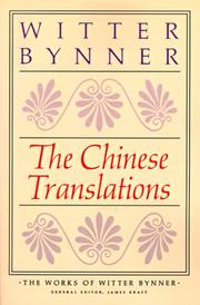Cover of: The Chinese Translations | Witter Bynner